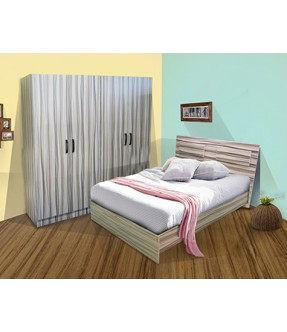 ICC Bedroom Set 5'0 and 4 door