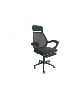 Nickel Executive Chair with Footrest