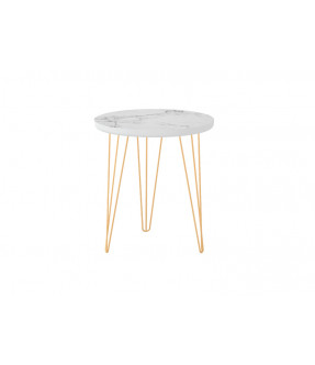 Carrara Round Side Table